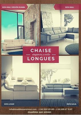 Catálogo Chaise Longues Muebles San Simón