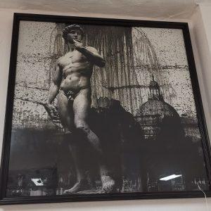 Cuadro de David de Miguel Angel en tonos oscuros