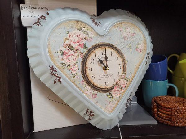 Reloj de Pared - Corazón y Flores