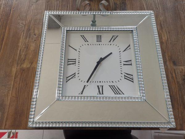 Reloj de Pared Marco Cuadrado Espejo