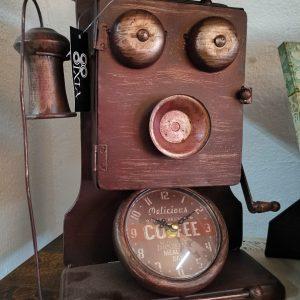 Reloj de pared Teléfono Vintage con Caja de Llaves