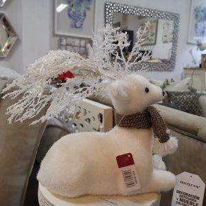 Reno Blanco para decoración navideña 1