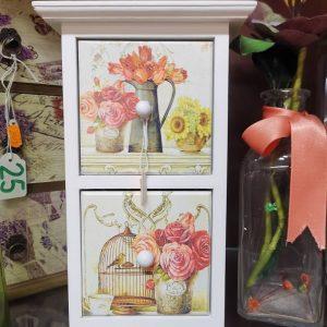 cajita decorativa vertical de flores