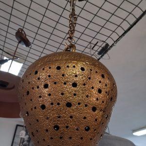 lampara de techo bronce rugosa 1
