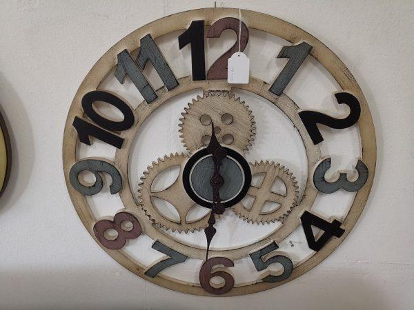 reloj de pared engranajes marron 1