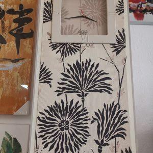 Reloj de pared rectangular flores modelo Retro